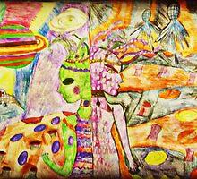 2 Alien Girls in Mirror Universes by shivonnejean