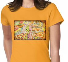 2 Alien Girls in Mirror Universes Womens Fitted T-Shirt