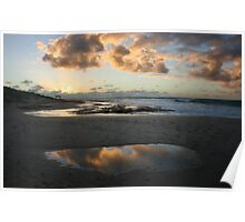 Cloud reflections - Jakes Point Kalbarri Poster