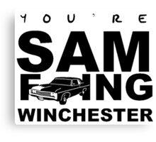 Sam F---ing Winchester 1 Canvas Print