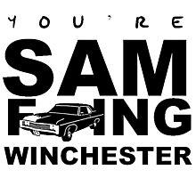 Sam F---ing Winchester 1 Photographic Print