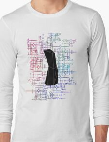 The Obelisk / The Diviner (Black and Multi-Coloured on White) Long Sleeve T-Shirt