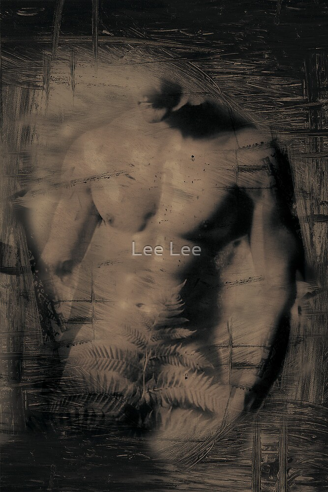 Nude male bodybuilder by Lee Lee