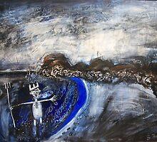 cranky Neptune..(at Cabarita) by glennbrady