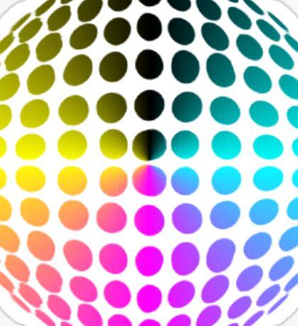 technicolour ball Sticker
