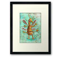 crazy bug Framed Print