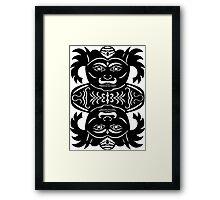 rakshasa duo - papercut pattern Framed Print