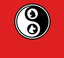 Yin Yang - Cat and Dog Unisex T-Shirt