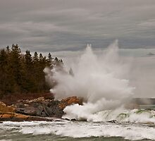 Nor' Easter Surf at Christmas Cove, Maine by MarkEmmerson