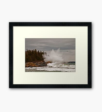 Nor' Easter Surf at Christmas Cove, Maine Framed Print