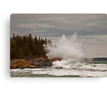 Nor' Easter Surf at Christmas Cove, Maine Canvas Print