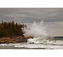 Nor' Easter Surf at Christmas Cove, Maine Photographic Print