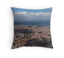 Flying Over Lisbon, Portugal Throw Pillow