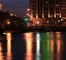 The Rock River at Night by Sara Johnson