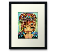 Taisie Blue Framed Print