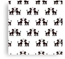 French Poodles Canvas Print