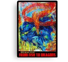"""FROM FISH TO DRAGONS"" album art Canvas Print"