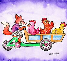 The Fox and Hens by Tomas Quinones