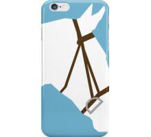 Minimalist Horse → White/Blue  iPhone Case/Skin