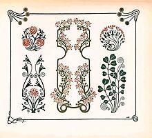 Maurice Verneuil Georges Auriol Alphonse Mucha Art Deco Nouveau Patterns Combinaisons Ornementalis 0033 by wetdryvac