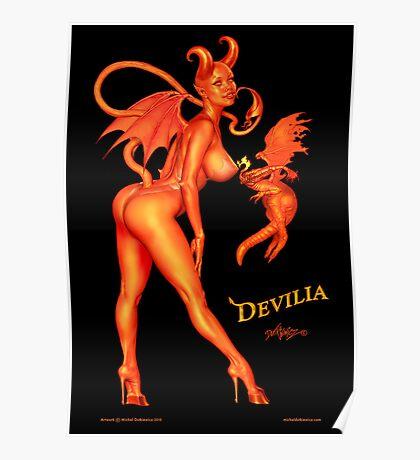 Devilia - Manic Attraction... In Costume, On Black... Poster