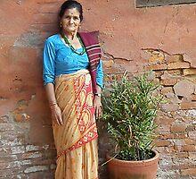 local Nepali lady in Bhaktapur by Matt Eagles