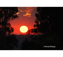 A lovely sunrise over Kurri Kurri Photographic Print