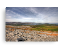 Corker Hill View in  The Burren Canvas Print