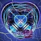 electric heart sapphire by LoreLeft27