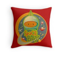 Space Boy! Throw Pillow