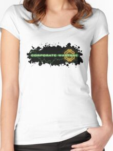 Corporate Warfare $ Women's Fitted Scoop T-Shirt