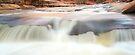 Slide Rock Waterfall Panorama-4 by Zane Paxton