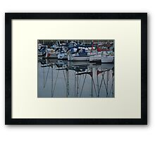Yacht Reflections Framed Print