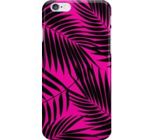 Kona Palms Hawaiian Leaf - Magenta & Black iPhone Case/Skin