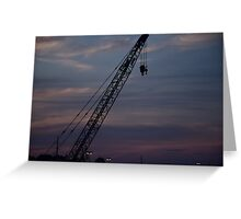 Crane at Sunset Greeting Card
