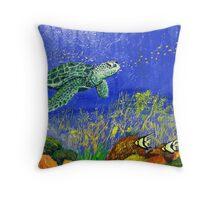 Turtle World Throw Pillow