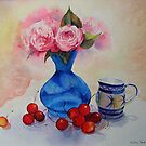 Roses and cherries by Beatrice Cloake
