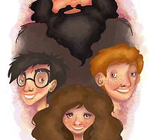 Hagrid and the Trio by Jennifer Mark