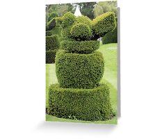 Robin topiary Greeting Card