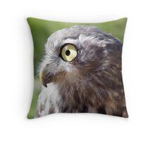 Bark Bark Barking Owl Throw Pillow