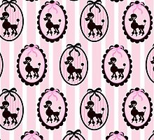 Poodles With Pink Ribbons by purplesensation
