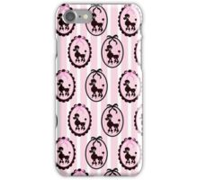 Poodles With Pink Ribbons iPhone Case/Skin