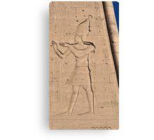 Hieroglyphs at Edfu Temple 3 Canvas Print