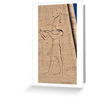 Hieroglyphs at Edfu Temple 3 Greeting Card
