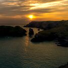 Kynance Cove at Sunset by Simon Marsden