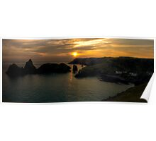 Kynance Cove at Sunset Poster