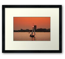 Sunset Boston Framed Print