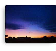 Sunset & Silhouettes Canvas Print