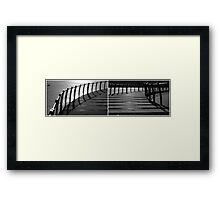 Floating Bridge (diptych 3/4) Framed Print