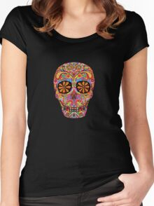 Day of the Dead Sugar Skull shirt Women's Fitted Scoop T-Shirt